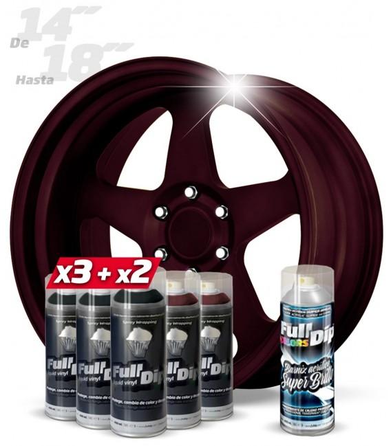 Pack 3 Sprays NEGRO + 2 CANDY ROJO DIAMANTE + 1 BRILLO