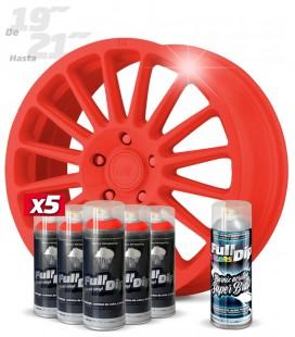 Pack 5 Sprays de 400ml Color ROJO + 1 Spray BRILLO