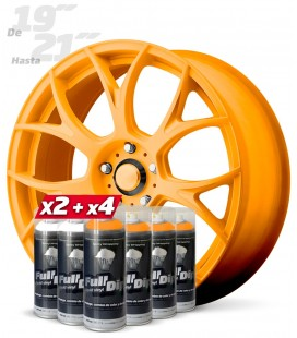 Pack 4 Sprays NARANJA Flúor + 2 Sprays BLANCO Base