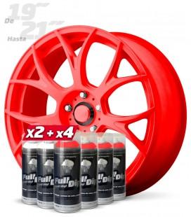 Pack 4 Sprays ROJO Flúor + 2 Sprays BLANCO Base