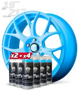 Pack 4 Sprays AZUL Flúor + 2 Sprays BLANCO Base