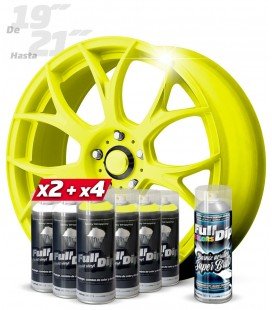 Pack 4 Sprays AMARILLO FLÚOR + 2 BLANCO + 1 BRILLO