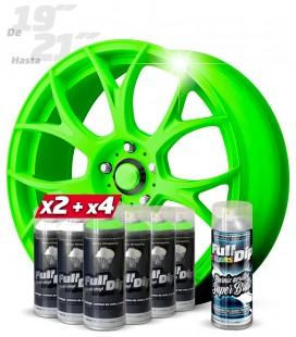 Pack 4 Sprays VERDE FLÚOR + 2 BLANCO + 1 BRILLO