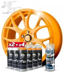 Pack 4 Sprays NARANJA FLÚOR + 2 BLANCO + 1 BRILLO