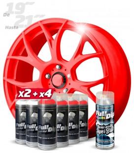 Pack 4 Sprays ROJO FLÚOR + 2 BLANCO + 1 BRILLO