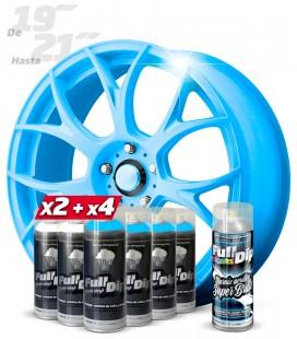 Pack 4 Sprays AZUL FLÚOR + 2 BLANCO + 1 BRILLO