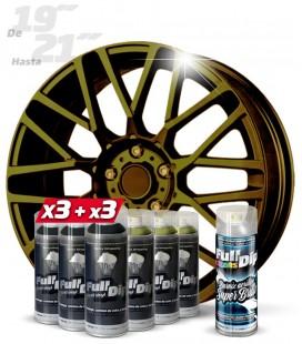Pack 3 Sprays NEGRO + 3 CAMALEÓN MIX WORLD + 1 BRILLO