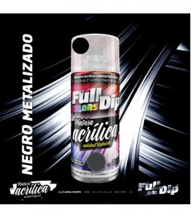 Pintura ACRÍLICA Full Colors Spray NEGRO METALIZADO