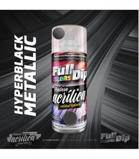Pintura ACRÍLICA Full Colors Spray HYPERBLACK METALLIC