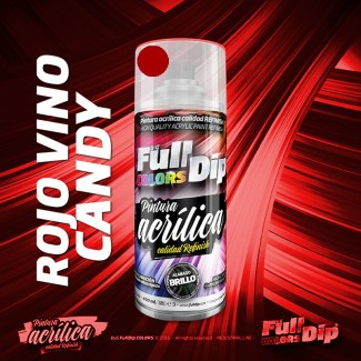 Pintura ACRÍLICA Spray 400ml ROJO VINO CANDY