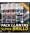 PACK LLANTAS SUPER BRILLO ACRILICO