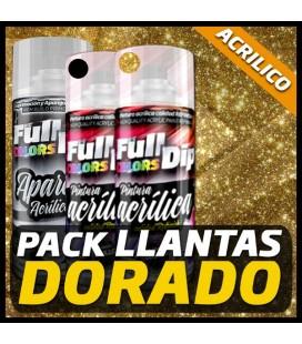 PACK LLANTAS DORADO PINTURA ACRÍLICA