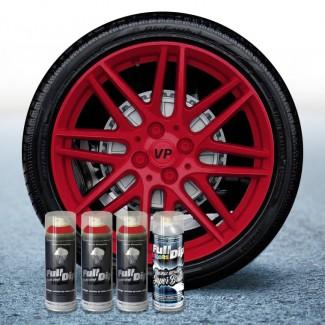 Pack 3 Sprays de 400ml Color ROJO CARMÍN + 1 Spray BRILLO