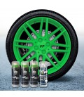 Pack 3 Sprays de 400ml Color VERDE LIMA + 1 Spray BRILLO
