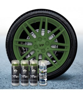 Pack 3 Sprays de 400ml Color VERDE MILITAR + 1 Spray BRILLO