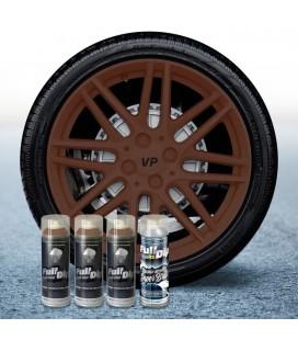 Pack 3 Sprays de 400ml Color MARRÓN MILITAR + 1 Spray BRILLO