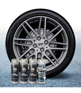 Pack 3 Sprays de 400ml Color ALUMINIO METALIZADO + 1 Spray BRILLO
