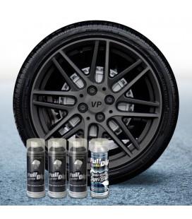 Pack 3 Sprays de 400ml Color HYPERBLACK METALLIC + 1 Spray BRILLO