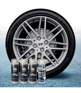 Pack 3 Sprays de 400ml Color HYPERSILVER METALLIC + 1 Spray BRILLO