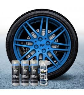 Pack 3 Sprays de 400ml Color AZUL METALIZADO + 1 Spray BRILLO