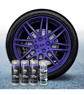 Pack 3 Sprays de 400ml Color VIOLETA METALIZADO + 1 Spray BRILLO