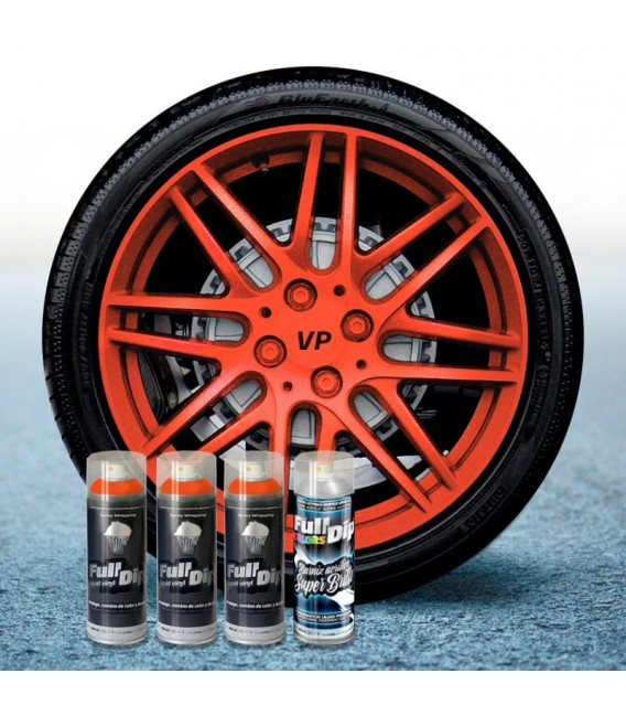 Pack 3 Sprays de 400ml Color NARANJA METALIZADO + 1 Spray BRILLO