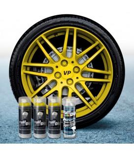 Pack 3 Sprays de 400ml Color AMARILLO METALIZADO + 1 Spray BRILLO