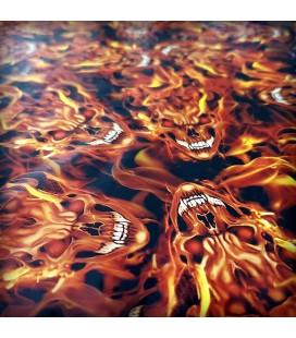 Lámina HidroImpresion Calaveras Fuego 0,5x100cm