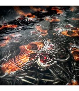 Lámina HidroImpresion Calaveras Metal 0,5x100cm