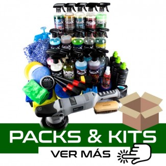 PACKS Exterior, Interior, KITS Llantas, Descontaminado, etc.